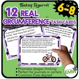 Circumference Task Cards - Deep Thinking, Real Life, and Applicable