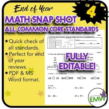 Math Test Prep Common Core Grade 4