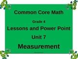 Gr 4 Math Common Core Unit 7 Measurement Notebook & Lesson Powerpoint
