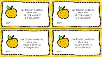 Gr 4 Math Journal Prompt/Topic Florida Standards MAFS COLOR NF Number Fraction