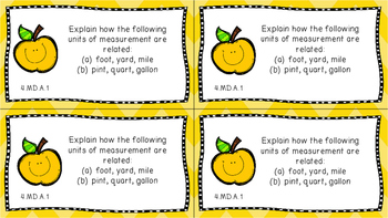 Gr 4 Math Journal Prompts/Topic Common Core COLOR MD G Measurement Data Geometry