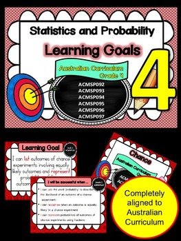 Gr 4 Maths Statistics & Probability Learning Goals & succe