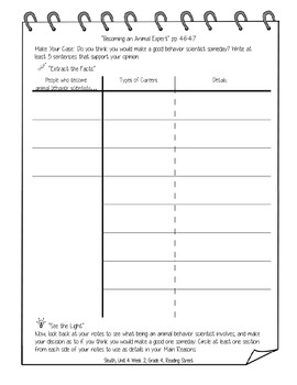 Gr. 4, Reading Street, Sleuth Lesson Plans & Student Sheets for all of Unit 4