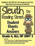 Gr. 4, Reading Street, Sleuth Magazine Lesson Plan & Student Sheets for Unit 3