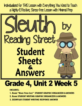 Sleuth Student Sheets for Unit 2 Wk 5 So You Want to be Pr