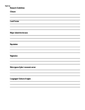 Gr 4 Social Studies: Canada Assignment
