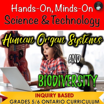 ONTARIO SCIENCE:Gr. 5/6 HUMAN ORGAN SYSTEMS AND BIODIVERSITY COMBINED GRADES
