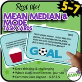 Mean Median Mode Task Cards