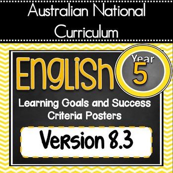 Version 8.3 Gr 5 All English Learning Goals & Success Criteria!  AC