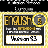 UPDATED V 8.3 -GrADE 5 - All English Learning INTENTIONS & Success Criteria!  AC