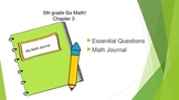 Gr 5 Go Math! Ch. 3 Essential Questions and Journal Prompts