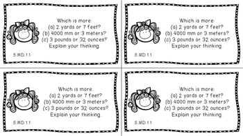 Gr 5 Math Journal Prompt/Topic Florida Standard MD G Measurement Data Geometry