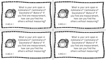 Gr 5 Math Journal Prompts/Topic Common Core B&W MD & G Measurement Data Geometry