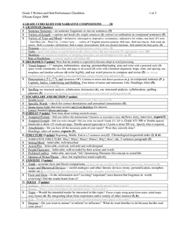 Gr 5 Narrative&Expository checklists