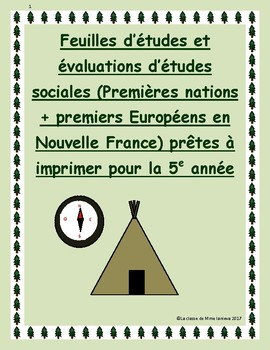 Gr 5 Social Studies Study sheets + tests: Premieres nation