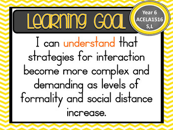 Gr 6 All English Learning Goals & Success Criteria!  ALL STATES – AUS CURRICULUM