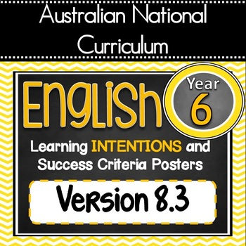 Version 8.3 - Grade 6 - All English Learning INTENTIONS &