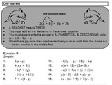 Products Worksheets (distributive law)