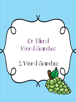 Gr Blend Word Searches!