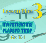 Gr. K-1 Lesson 3 of 12: Measuring ONE HOUR of ELAPSED TIME