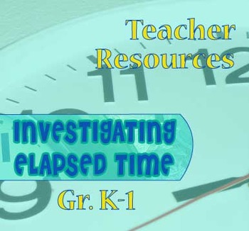 Gr. K-1 TEACHER RESOURCES for Lessons 1-13