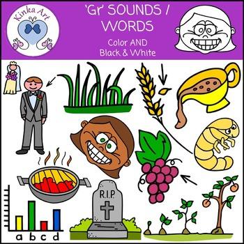 Gr Sounds / Words: Beginning Sounds Clip Art