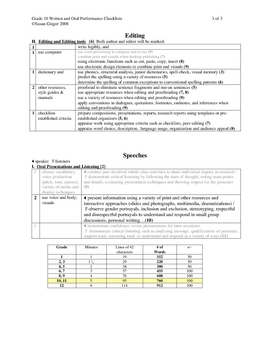Gr10 Narrative&Expository checklists