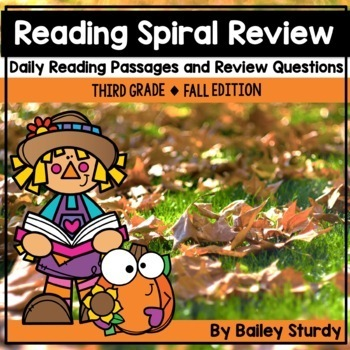 Gr3 Spiral Reading Review Fall Edition