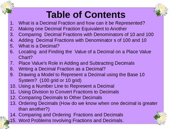Gr4 Math Common Core Unit 5 Fractions and Decimals Notebook & Lessons Powerpoint