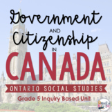 ONTARIO SOCIAL STUDIES: Gr. 5 Government and Citizenship i