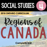 ONTARIO SOCIAL STUDIES: GR. 4 Physical Regions of Canada - Complete Inquiry Unit