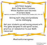 Gr5 PSSA Sampler Multi-Step Word Problem Whole Numbers & D