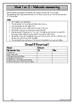 Graad R Assessering Kwartaal 1