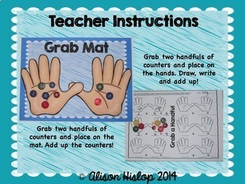 Grab A Handful! Addition for Kindergarten