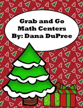 Grab And Go Math Centers