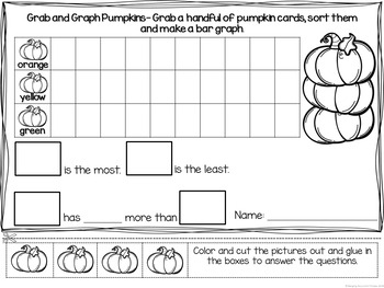 Fall Themed Graphing Centers (Data Management)