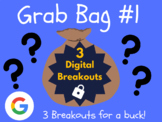 Grab Bag #1: 3 Digital Breakouts (Back to School, Early Finishers, Escape Room)