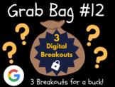 Grab Bag #12: 3 Digital Breakouts (Brain Break, Early Finishers, Escape Room)