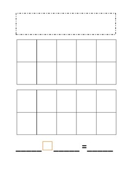 Grab, Build, and Write with Ten Frames Addition and Subtraction