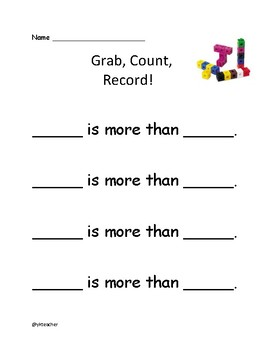 Grab, Count, Record- Comparing Numbers