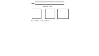 Grab, Count, and Add Worksheet