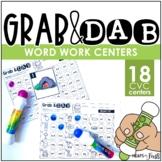 Grab & Dab - CVC Word Work