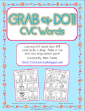 Grab & Dot Center {CVC, CVCC & MORE Words} Literacy Printa