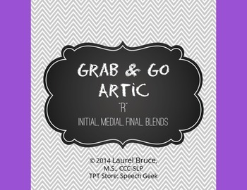 Grab & Go Artic-Articulation Cards: R