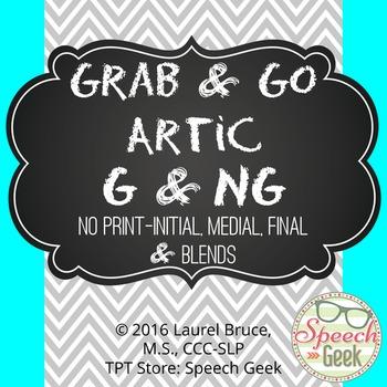 """Grab & Go Artic-No Print Articulation """"G"""" & """"NG"""""""