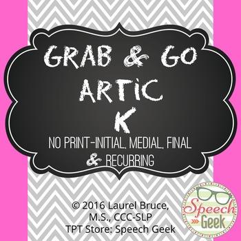 """Grab & Go Artic-No Print Articulation """"K"""""""