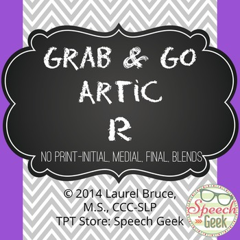 """Grab & Go Artic-No Print Articulation """"R"""""""