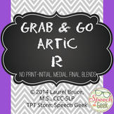 "Grab & Go Artic-No Print Articulation ""R"""