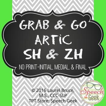 """Grab & Go Artic-No Print Articulation """"SH"""" & """"ZH"""""""