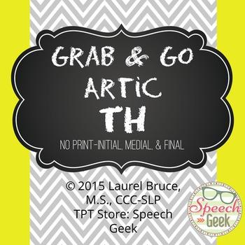 """Grab & Go Artic-No Print Articulation """"TH"""""""